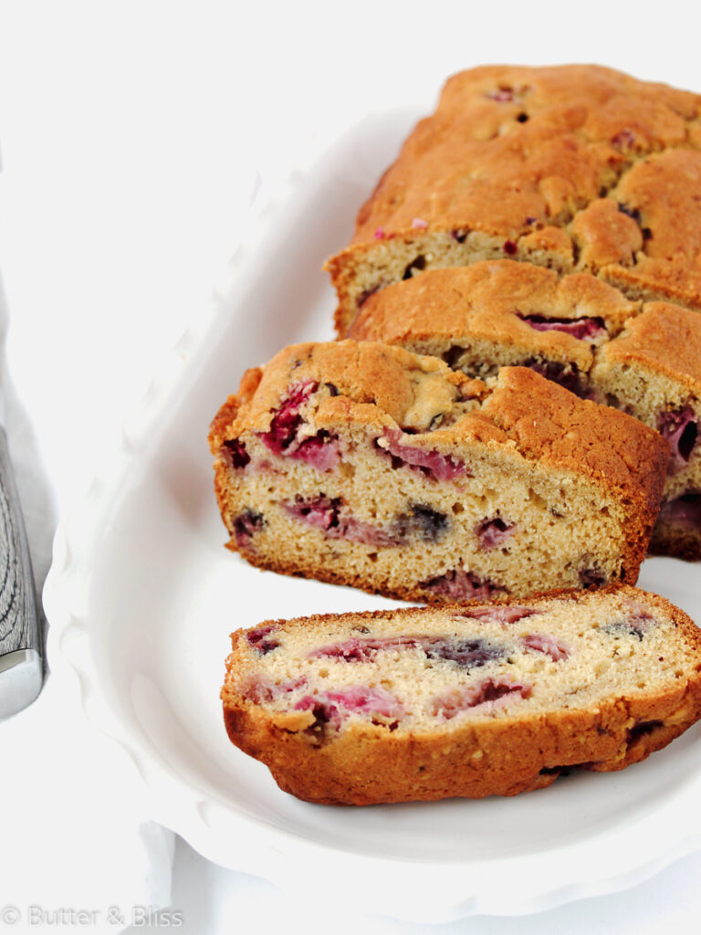Slices of morning berry bread