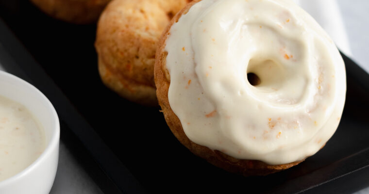 Carrot and Orange Baked Donuts