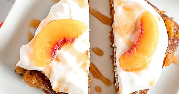 Mini Peach Caramel Cake