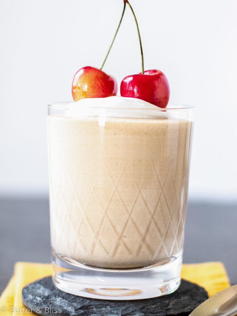 Single serving of rainier cherry mousse