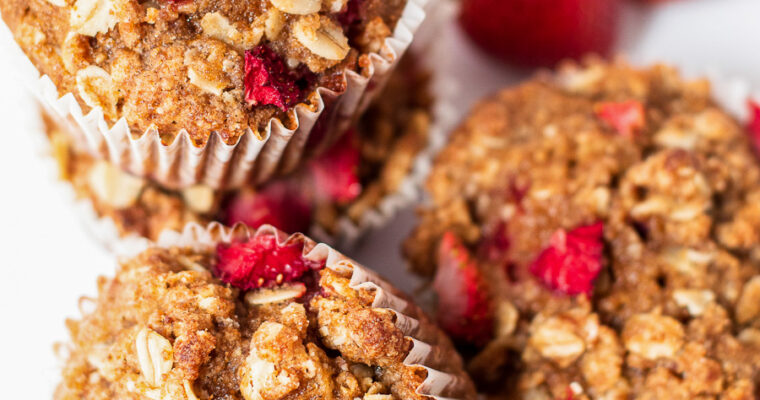 Strawberry Oatmeal Streusel Muffins