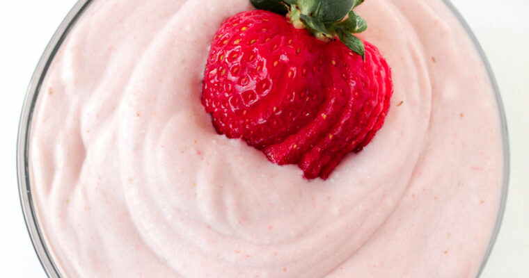 Strawberry Whipped Coconut Cream