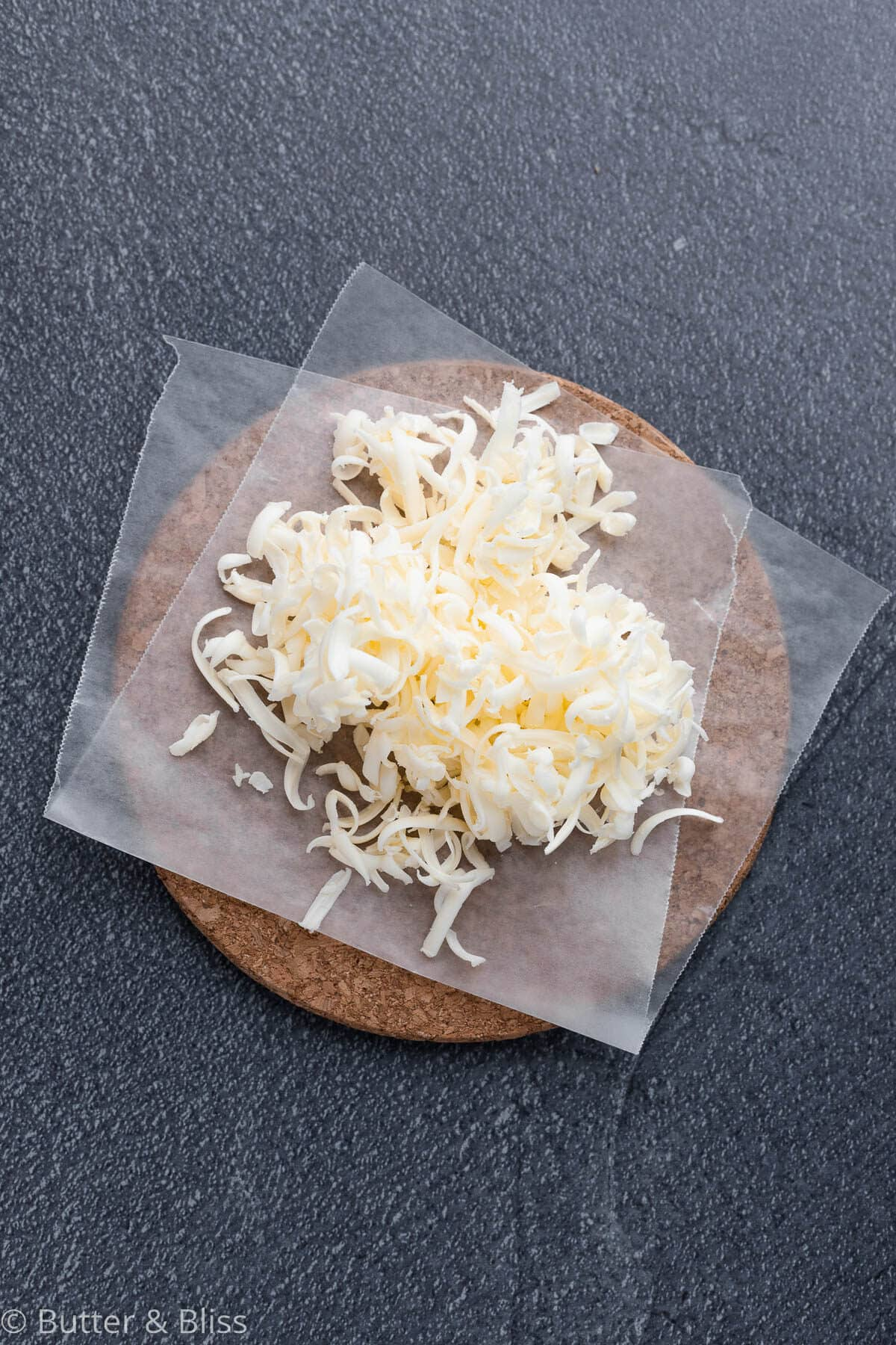 Grated cold butter