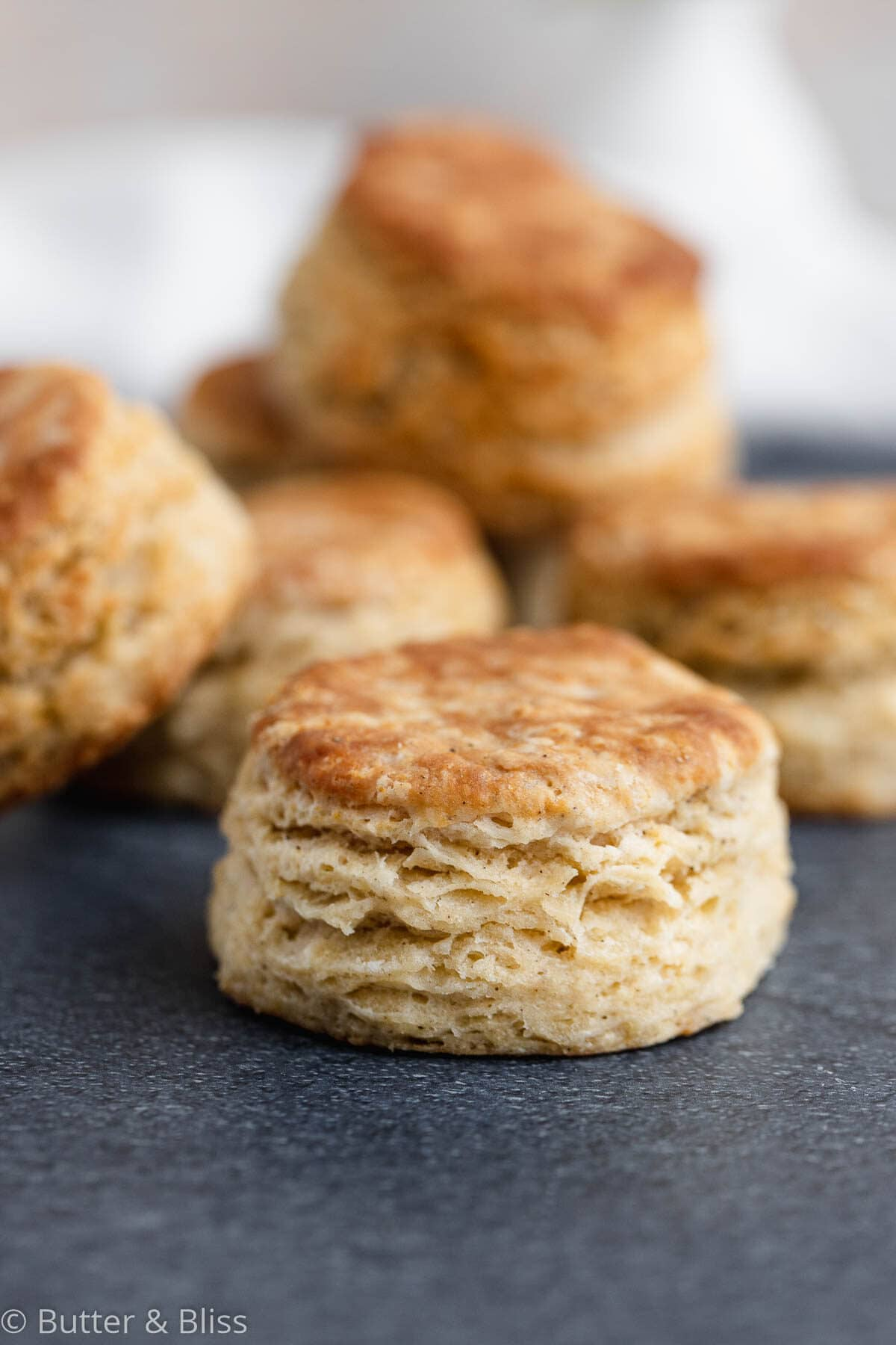 Homemade buttermilk biscuit on a table
