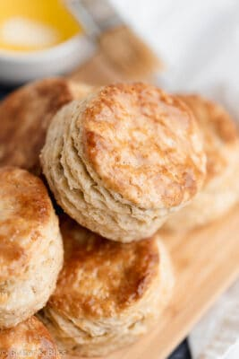 Buttermilk biscuit with melted butter on top