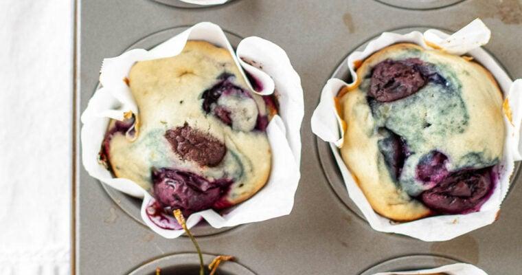 Small Batch Chocolate Cherry Muffins