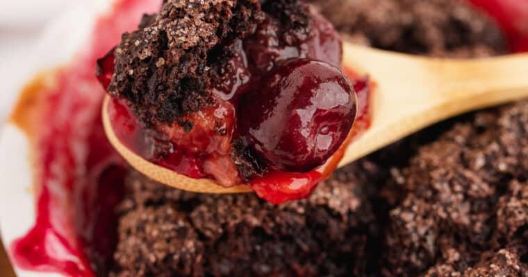 Chocolate Stone Fruit Cobbler – Mini Dessert