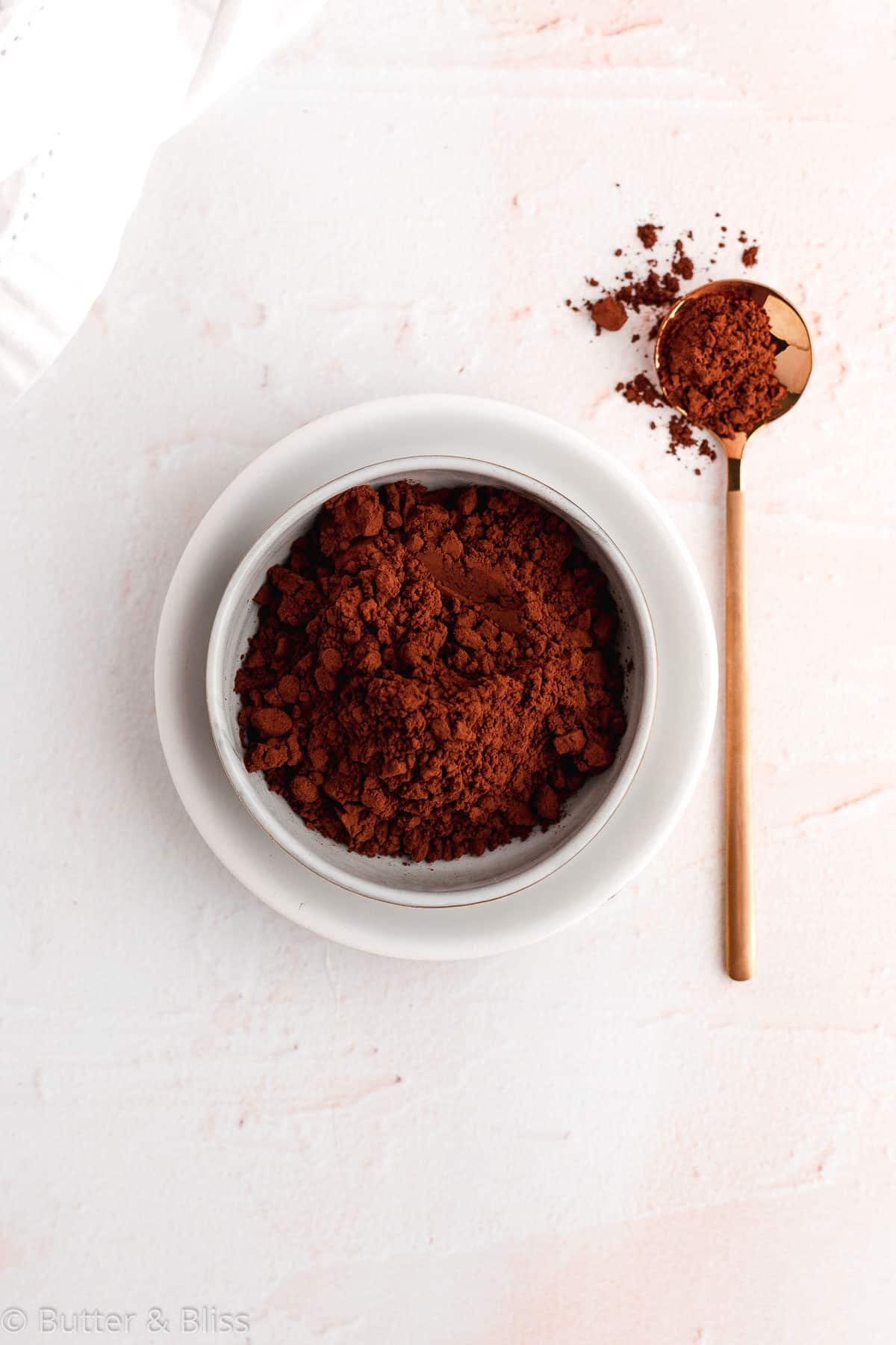 Cocoa ingredient for chocolate cobbler