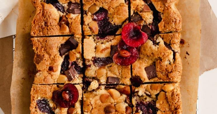 Cherry Macadamia Blondies – Gluten Free Small Batch