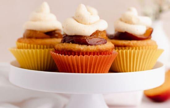 Peach Cupcakes – Gluten Free Small Batch