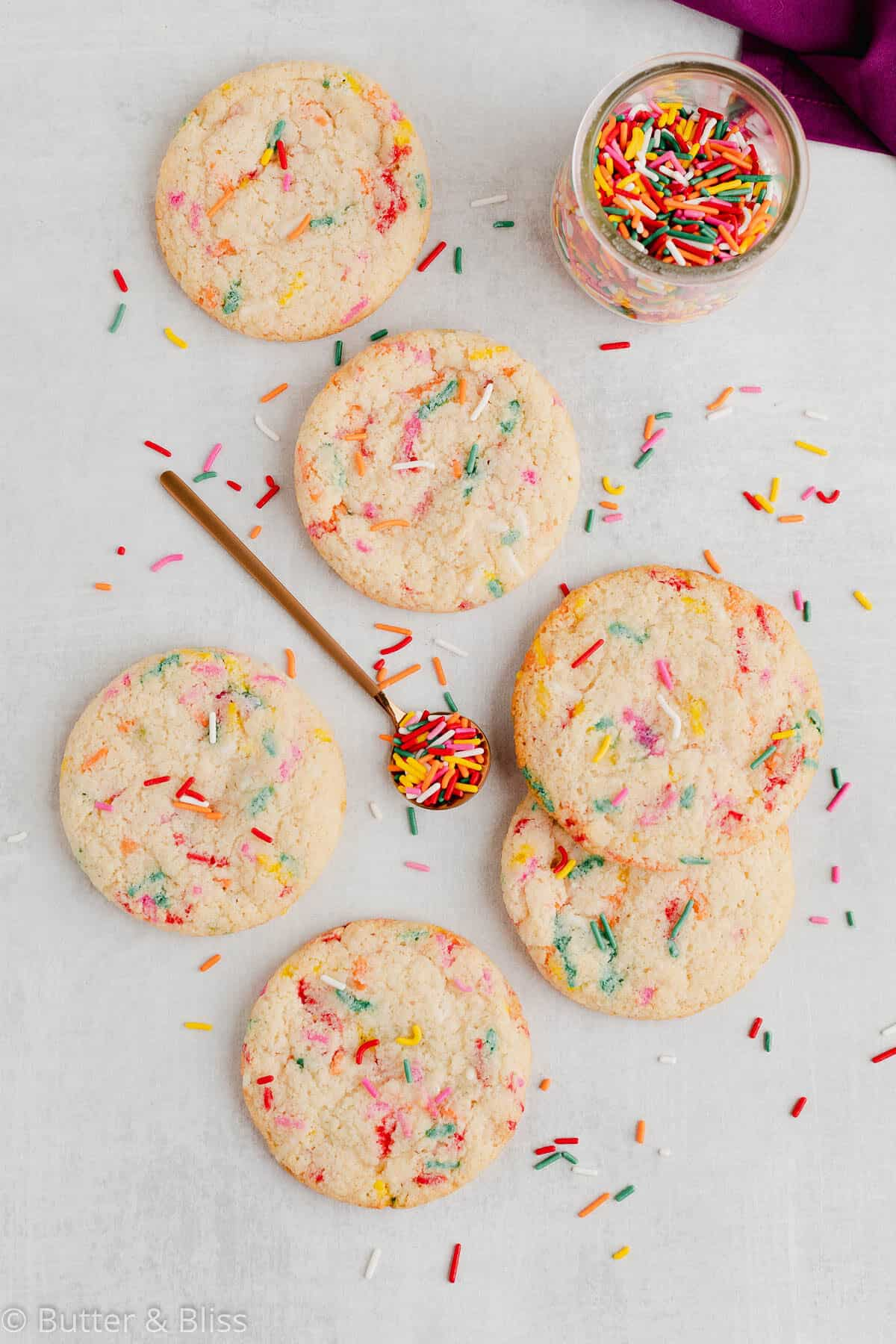 Small batch of gluten free sugar cookies from scratch on a table