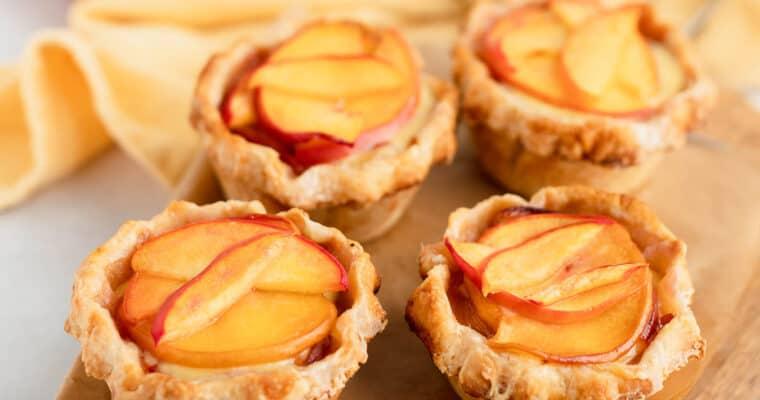 Peaches and Cream Mini Pies