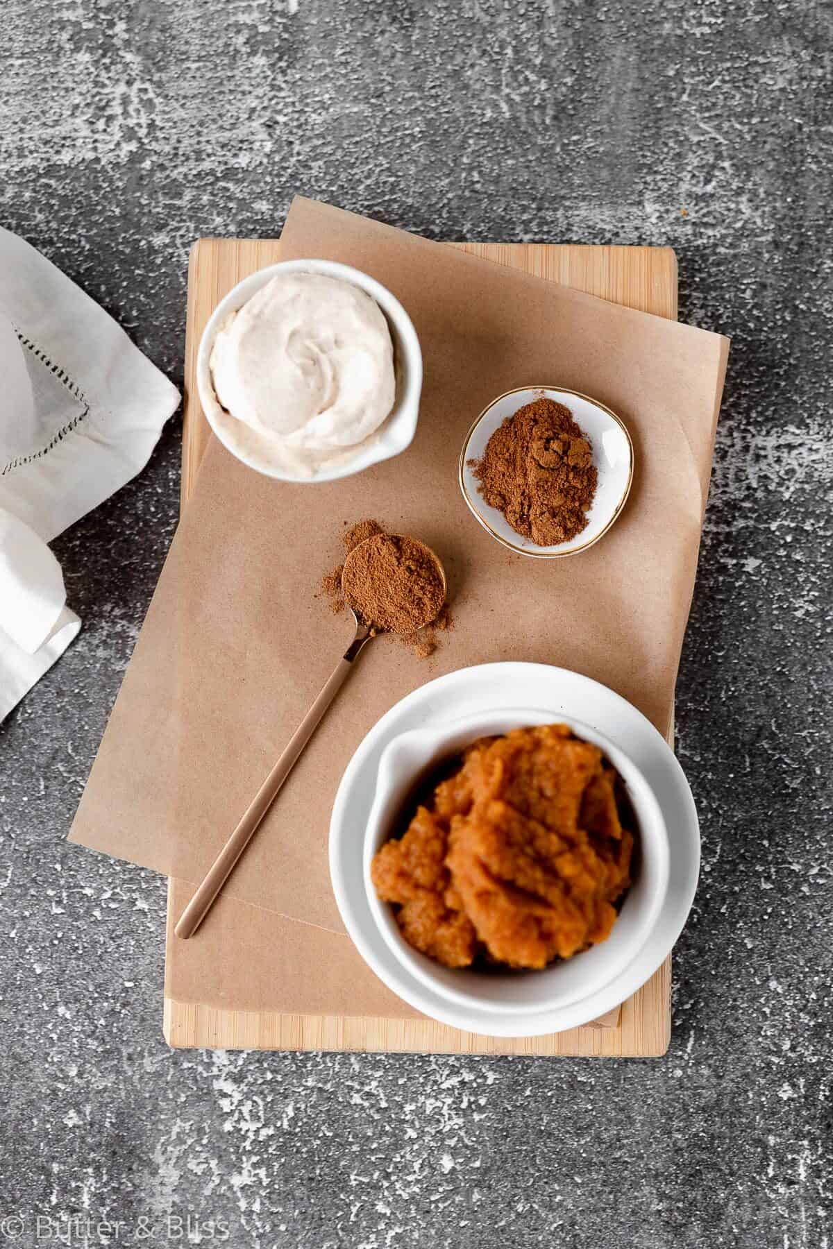Ingredients for fall sandwich cookies