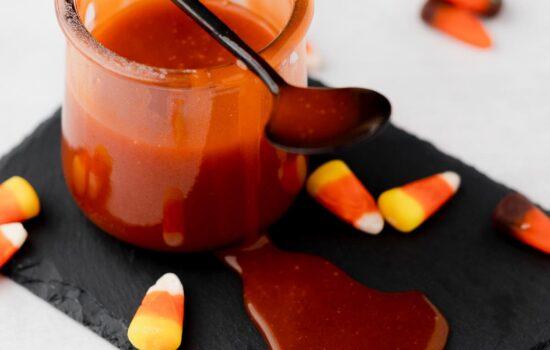 Candy Corn Caramel Sauce